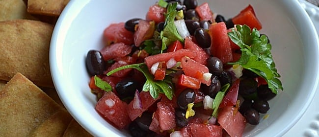 Watermelon Black Bean Salsa