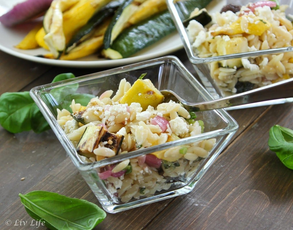 Lemony Orzo Salad with Grilled Zucchii (2 of 2)