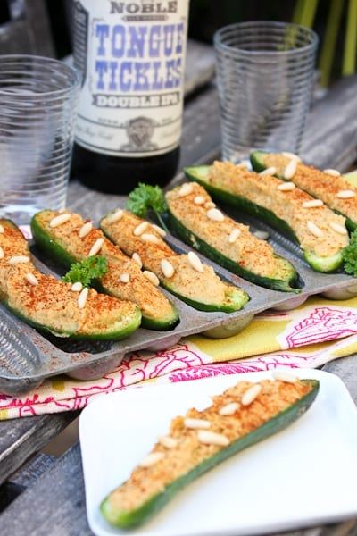 Cucumber Hatch Chile Hummus Boats-0825