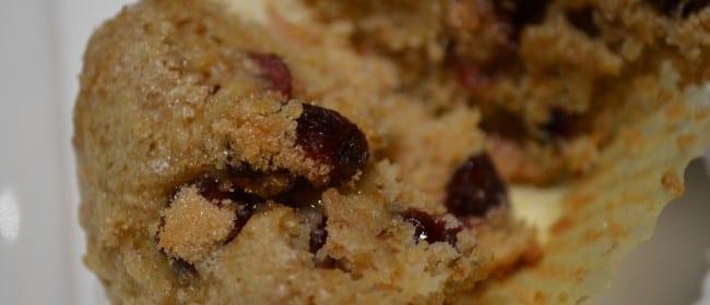 Sugar Spot Banana Cranberry Muffins