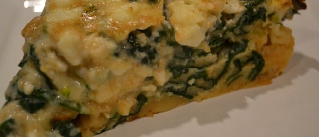 Crustless Spinach & Feta Quiche