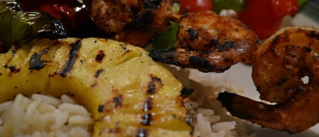 Spicy Chipotle Grilled Shrimp with Pineapple