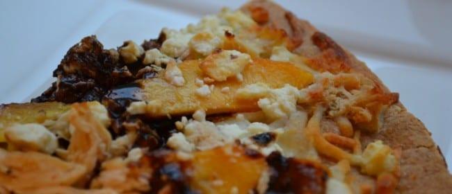 Peach and Feta Chicken Pizza
