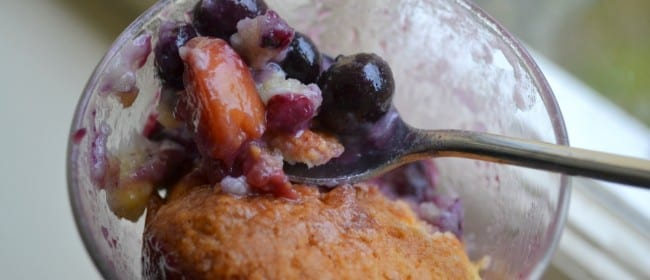 Nectarine & Blueberry Cobbler