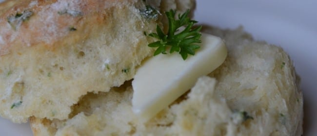 Curly Parsley Potato Biscuits