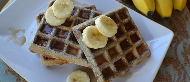 Blue Cornmeal Waffles
