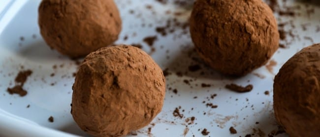 Cocoa-Caramel Bourbon Truffles