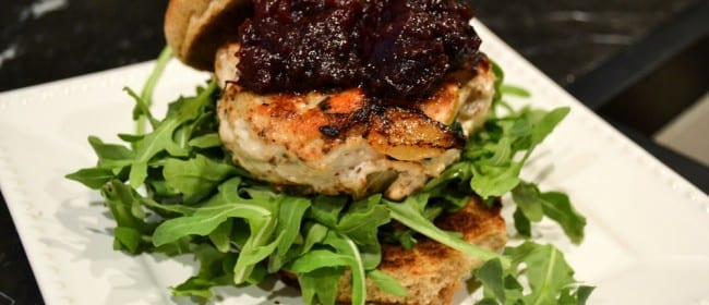 Turkey Burgers with Cranberry-Apple Relish