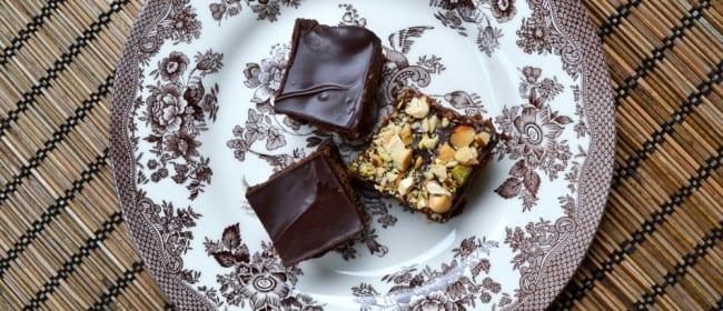 Zucchini Brownies w/ Dark Chocolate Frosting