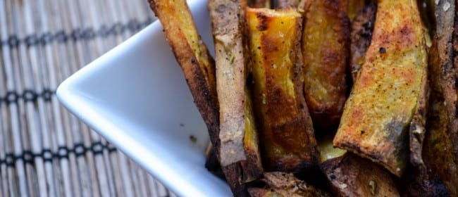 Roasted White Sweet Potato Fries
